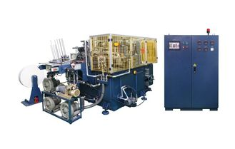 China 45kw 100pcs/min Automatic Paper Can forming machine with hot air sealing supplier